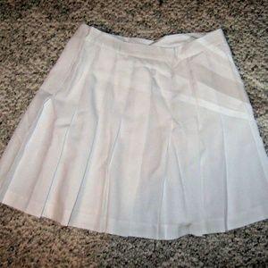Bright White Pleat Short Flare Mini Skirt 12
